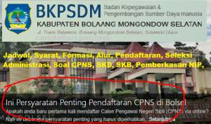 CPNS 2019 Kabupaten Bolaang Mongondow Selatan