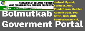 Rincian Formasi CPNS Kab Bolaang Mongondow Utara 2019