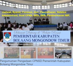 Jadwal SKB CPNS Kabupaten Bolmong 2019 2020