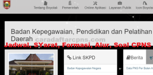 Pengumuman Hasil SKB CPNS Kabupaten Boyolali Formasi 2019