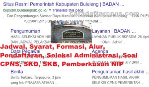 Jadwal SKB CPNS Kabupaten Buleleng 2019 2020