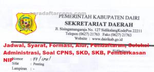 Jadwal Pendaftaran CPNS Kabupaten Dairi 2021 Lulusan SMA SMK D3 S1 S2