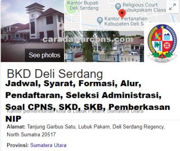 Pengumuman Hasil SKD CPNS KABUPATEN DELI SERDANG 2021