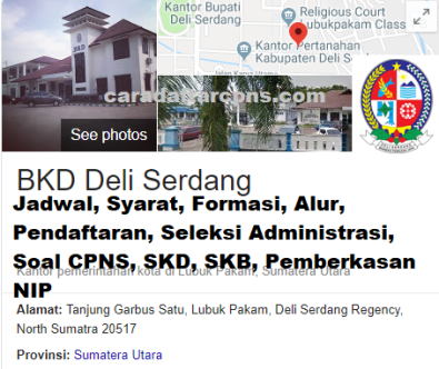 Jadwal Pendaftaran CPNS Kabupaten Deli Serdang 2021 Lulusan SMA SMK D3 S1 S2
