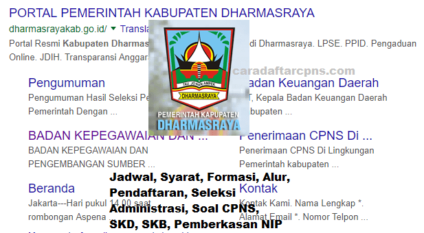 Pengumuman Hasil SKD CPNS KABUPATEN DHARMASRAYA 2021