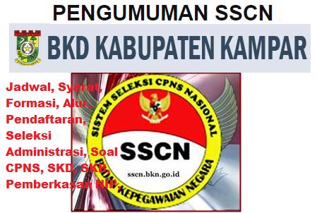 Pengumuman CPNS Kabupaten Kampar 2021 Lulusan SMA SMK D3 S1 S2