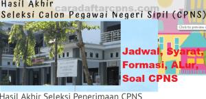 Pengumuman Hasil SKB CPNS Kabupaten Kebumen Formasi 2019