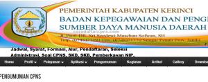 Pengumuman CPNS Kabupaten Kerinci 2021 Lulusan SMA SMK D3 S1 S2