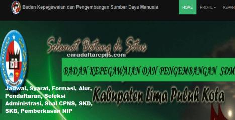 Pengumuman CPNS Kabupaten Limapuluh Kota 2021 Lulusan SMA SMK D3 S1 S2
