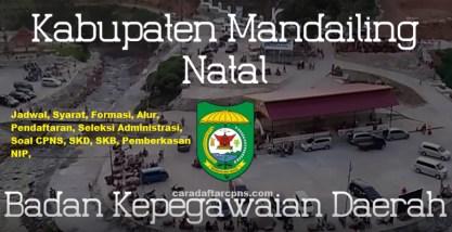 Jadwal Pendaftaran CPNS Kabupaten Mandailing Natal 2021 Lulusan SMA SMK D3 S1 S2