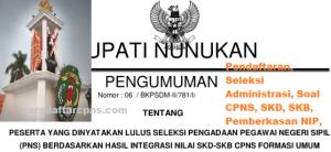 Pengumuman CPNS Kabupaten Nunukan 2021 Lulusan SMA SMK D3 S1 S2