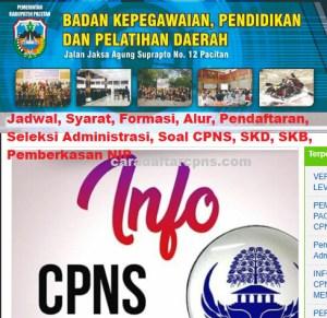 Jadwal Pendaftaran CPNS Kabupaten Pacitan 2021 Lulusan SMA SMK D3 S1 S2