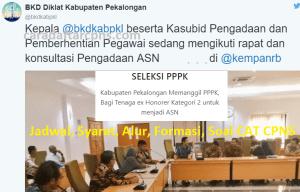Jadwal Pendaftaran CPNS Kabupaten Pekalongan 2021 Lulusan SMA SMK D3 S1 S2