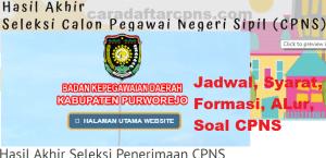 Pengumuman Hasil SKB CPNS Kabupaten Purworejo Formasi 2019