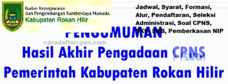 Pengumuman CPNS Kabupaten Rokan Hilir 2021 Lulusan SMA SMK D3 S1 S2
