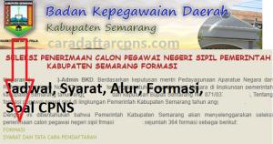 Jadwal Pendaftaran CPNS Kabupaten Semarang 2021 Lulusan SMA SMK D3 S1 S2