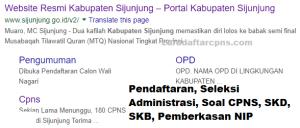 Jadwal SKB CPNS Kabupaten Sijunjung 2019 2020