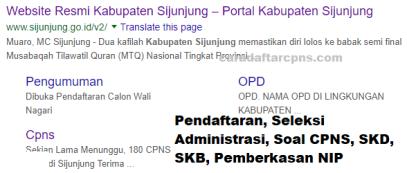 Pengumuman CPNS Kabupaten Sijunjung 2021 Lulusan SMA SMK D3 S1 S2