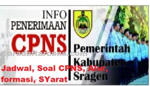 Pengumuman Hasil SKB CPNS Kabupaten Sragen Formasi 2019