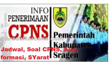 Jadwal Pendaftaran Cpns Kabupaten Sragen 2021 Lulusan Sma Smk D3 S1 S2 Soal Skd Skb Pdf Terbaru