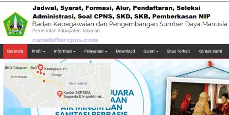 Jadwal Pendaftaran CPNS Kabupaten Tabanan 2021 Lulusan SMA SMK D3 S1 S2