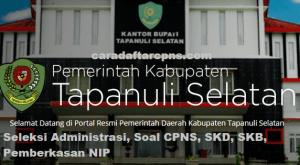 Jadwal dan Lokasi SKD CPNS Kab Tapanuli 2019 2020