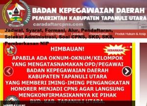 CPNS 2019 Kabupaten Tapanuli Utara