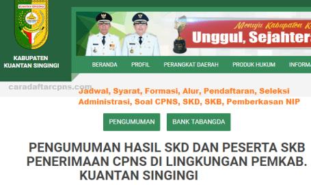 Pengumuman CPNS Kabupaten Kuansing 2021 Lulusan SMA SMK D3 S1 S2