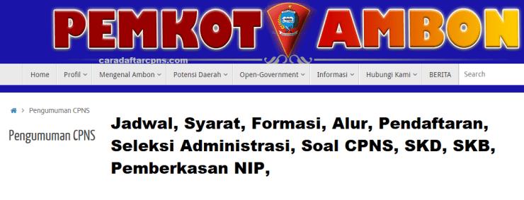 Hasil Seleksi Administrasi CPNS Pemkot Ambon 2021