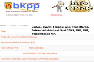 Pengumuman Hasil SKB CPNS Kota Banjarbaru Formasi 2019