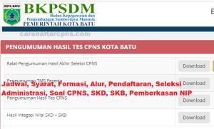 Hasil Seleksi Administrasi CPNS Kota Batu 2019
