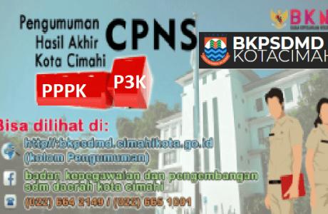 Pengumuman Hasil SKD CPNS PEMKOT CIMAHI 2021