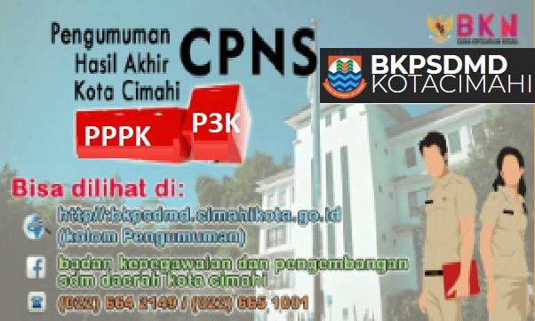 Hasil Seleksi Administrasi CPNS Pemkot Cimahi 2021