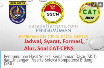 Hasil Seleksi Administrasi CPNS Pemkot Depok 2021