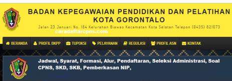Pengumuman Hasil SKD CPNS PEMKOT GORONTALO 2021