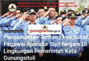 Pengumuman Hasil SKB CPNS Pemkot Gunungsitoli Formasi 2019