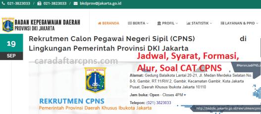 Hasil Seleksi Administrasi CPNS Pemkot Jakarta 2021