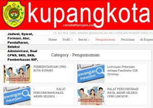 Pengumuman Hasil SKB CPNS Kota Kupang Formasi 2019