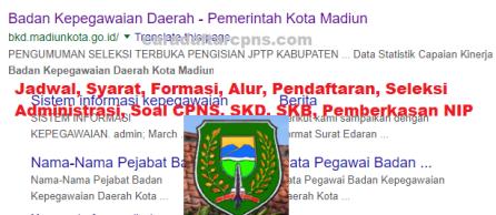 Hasil Seleksi Administrasi CPNS Pemkot Madiun 2021
