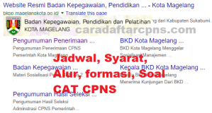 Jadwal Pendaftaran CPNS Pemkot Magelang 2021 Lulusan SMA SMK D3 S1 S2