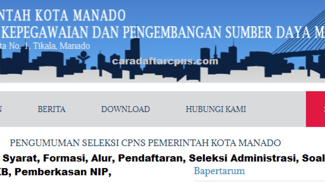 Cpns 2019 Kota Manado Lulusan Sma Smk D2 D3 S1 S2 S3