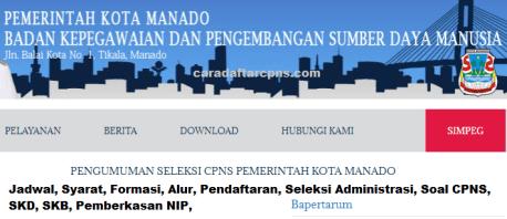 Pengumuman Hasil SKD CPNS PEMKOT MANADO 2021