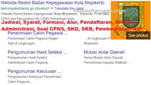 Pengumuman Hasil SKB CPNS Pemkot Mojokerto Formasi 2019