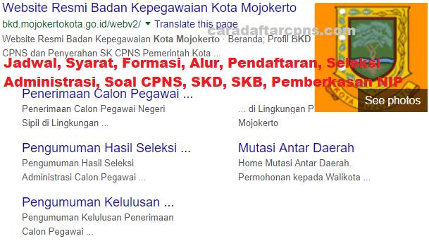 Hasil Seleksi Administrasi CPNS Pemkot Mojokerto 2021