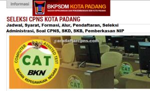 Jadwal Pendaftaran CPNS Kota Padang 2021 Lulusan SMA SMK D3 S1 S2