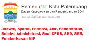 Jadwal Pendaftaran CPNS Kota Palembang 2021 Lulusan SMA SMK D3 S1 S2