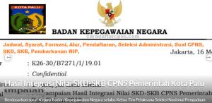 Pengumuman Hasil SKB CPNS Kota Palu Formasi 2019