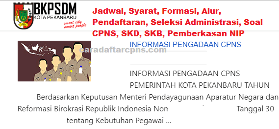 Hasil Seleksi Administrasi CPNS Pemkot Pekanbaru2021