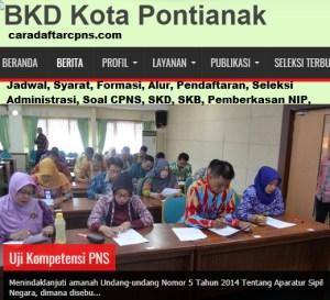 Jadwal Pendaftaran CPNS Kota Pontianak 2021 Lulusan SMA SMK D3 S1 S2
