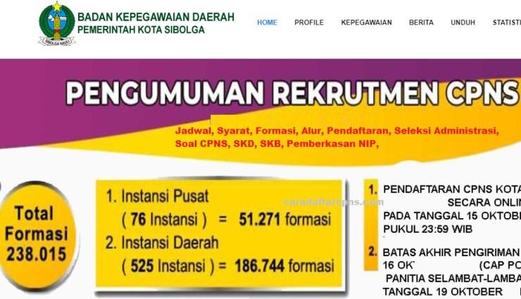 Hasil Seleksi Administrasi CPNS Pemkot Sibolga 2021
